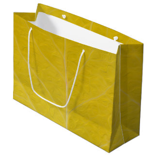 Sacola Para Presentes Grande Folha amarela #5 de Aspen