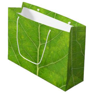 Sacola Para Presentes Grande Folha verde #11 de Aspen