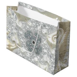 Sacola Para Presentes Grande Fractals elegantes extravagantes com padrões legal