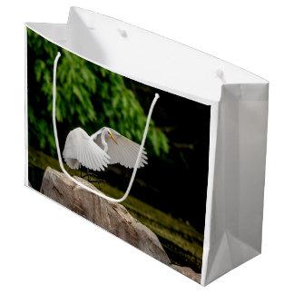 Sacola Para Presentes Grande Grande Egret