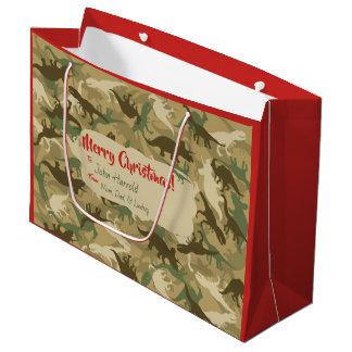 Sacola Para Presentes Grande Grande saco do presente do Natal do dinossauro da