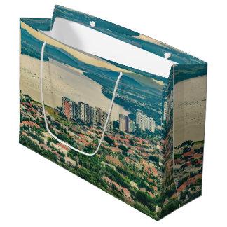Sacola Para Presentes Grande Ideia aérea do subúrbio de Guayaquil do plano
