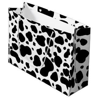 Sacola Para Presentes Grande Impressão animal preto e branco do teste padrão
