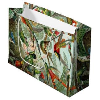 Sacola Para Presentes Grande Impressão da arte de Ernst Haeckel: Trochilidae