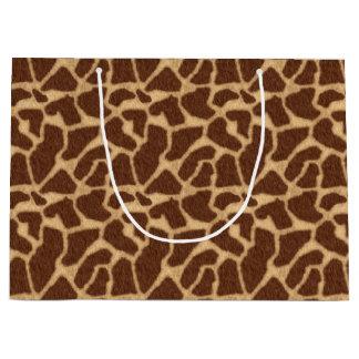 Sacola Para Presentes Grande Impressão do girafa
