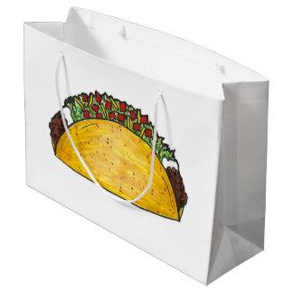 Sacola Para Presentes Grande Impressão mexicano do Taco de Foodie Tex Mex Texas