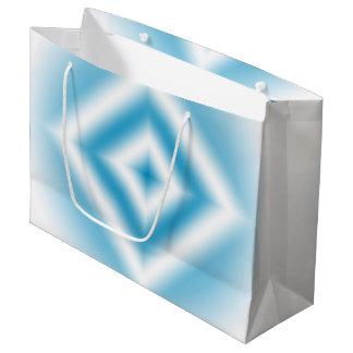 Sacola Para Presentes Grande inclinação azul do diamante do Personalizar-céu