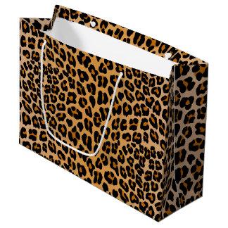 Sacola Para Presentes Grande Leopardo