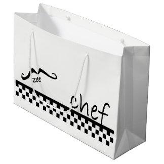 Sacola Para Presentes Grande LGB francês do cozinheiro chefe de Zee