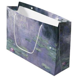 Sacola Para Presentes Grande Lírios de água Nymphéas 1907 de Claude Monet
