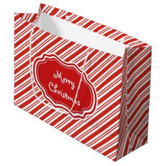 Sacola Para Presentes Grande Listras do bastão de doces