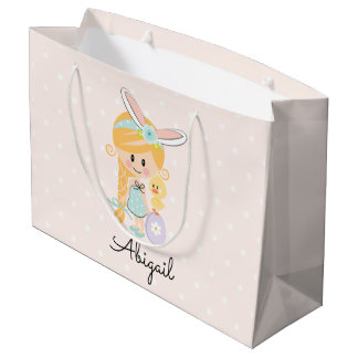 Sacola Para Presentes Grande Louro personalizado do Headband do coelho do saco