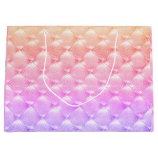 Sacola Para Presentes Grande Luxo Glam cor-de-rosa adornado de Ombre do