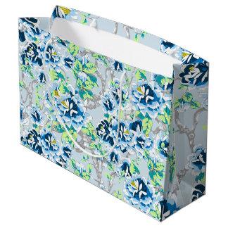 Sacola Para Presentes Grande Luz - saco azul do presente de chintz