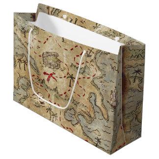 Sacola Para Presentes Grande Mapa do tesouro