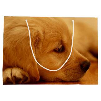 Sacola Para Presentes Grande Melancolia de Antoine do filhote de cachorro do