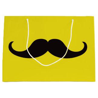 Sacola Para Presentes Grande Mestre do bigode do disfarce customizável