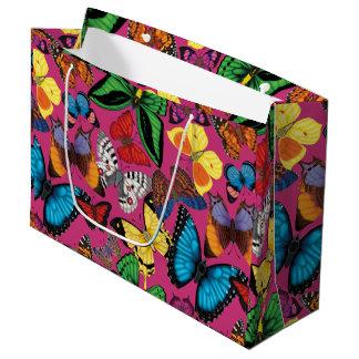 Sacola Para Presentes Grande Mundo da borboleta