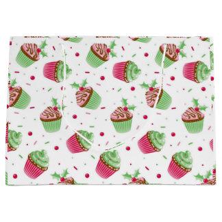 Sacola Para Presentes Grande Natal bonito e doce cupcakes coloridos