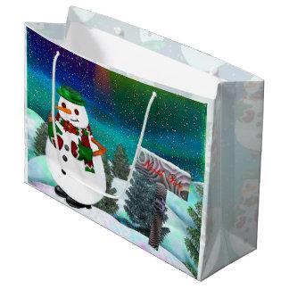 Sacola Para Presentes Grande Natal gelado da cidade LARGAMENTE SOMENTE
