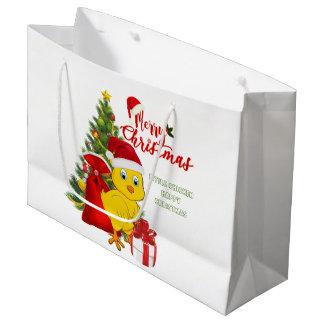 Sacola Para Presentes Grande Natal pequeno da galinha do bebê