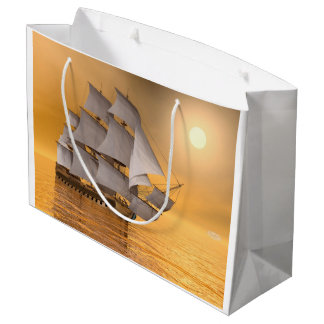 Sacola Para Presentes Grande Navio mercante velho - 3D rendem
