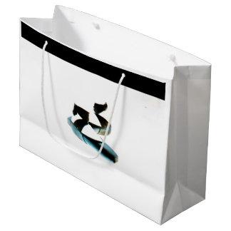 Sacola Para Presentes Grande O balé Pointe calça o saco do presente (preto & o
