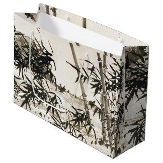 Sacola Para Presentes Grande O bambu chinês asiático sae do grande saco do