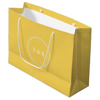 Sacola Para Presentes Grande O desenhista 2017 da primavera de colore o amarelo