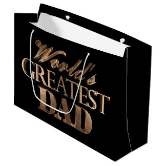 Sacola Para Presentes Grande O grande pai dos mundos elegantes pretos da