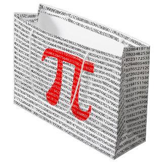 Sacola Para Presentes Grande O número vermelho pi é um símbolo da constante