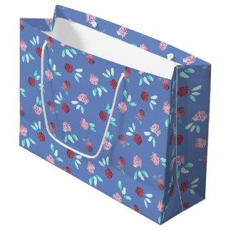 Sacola Para Presentes Grande O trevo floresce o grande saco lustroso do