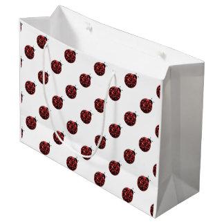 Sacola Para Presentes Grande O vermelho Sparkling sparkles teste padrão do