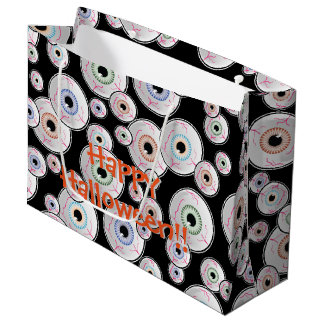 Sacola Para Presentes Grande Olhos Googly o Dia das Bruxas