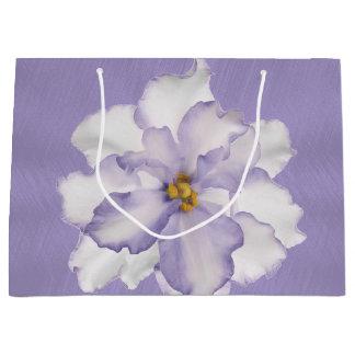 Sacola Para Presentes Grande Orquídea bonita da lavanda