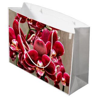 Sacola Para Presentes Grande Orquídeas