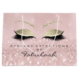 Sacola Para Presentes Grande Os chicotes cor-de-rosa dos olhos coram marcagem