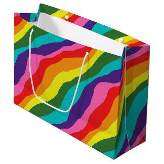 Sacola Para Presentes Grande Padrões do arco-íris