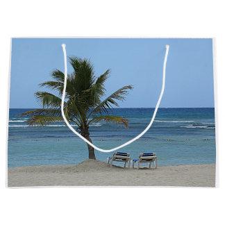 Sacola Para Presentes Grande Palmeira na praia