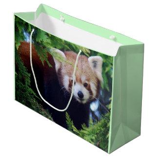 Sacola Para Presentes Grande Panda vermelha