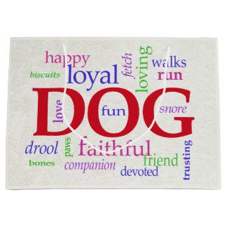 Sacola Para Presentes Grande Para amantes do cão