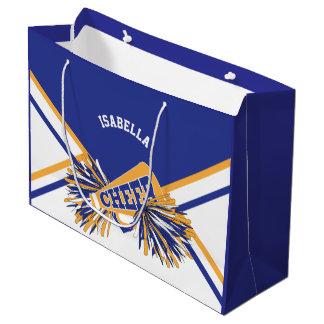 Sacola Para Presentes Grande Para os cheerleaderes - branco, azul e ouro -