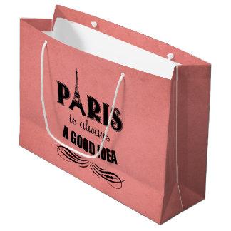 Sacola Para Presentes Grande Paris é sempre uma boa ideia