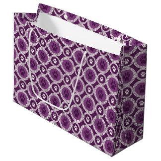 Sacola Para Presentes Grande Pata-para-Dando o saco do presente (ameixa)