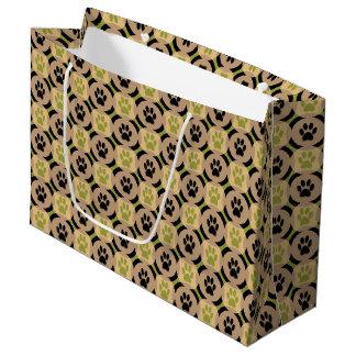 Sacola Para Presentes Grande Pata-para-Dando o saco do presente (azeitona)