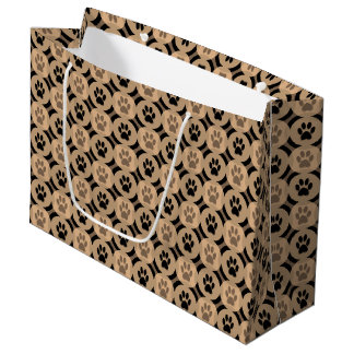 Sacola Para Presentes Grande Pata-para-Dando o saco do presente (Mocha)