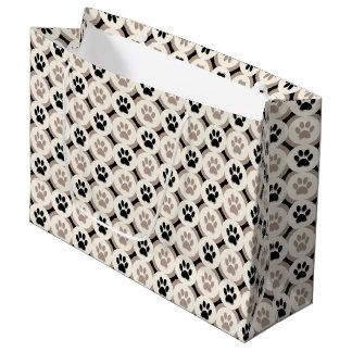 Sacola Para Presentes Grande Pata-para-Dando o saco do presente (preto/tan)
