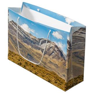 Sacola Para Presentes Grande Patagonia nevado Argentina das montanhas de Andes