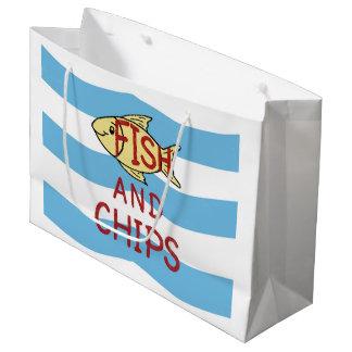 Sacola Para Presentes Grande Peixe com batatas fritas