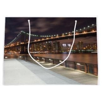 Sacola Para Presentes Grande Ponte de Manhattan e skyline de NYC